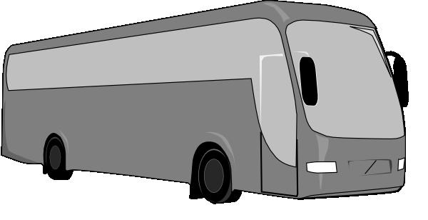 Gray Charter Bus Clip Art At Clker Com Vector Clip Art