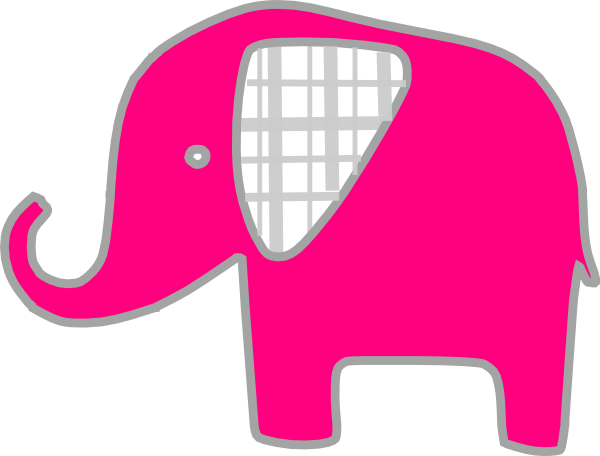 clip art pink elephant - photo #38