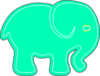 Elephantimage Green Clip Art