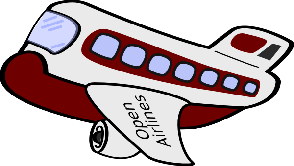 Cartoon Airplane Clip Art at Clker.com - vector clip art online ...