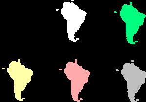 South America Map Clip Art at Clker.com - vector clip art online ...