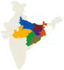 India Map With Pacs States Clip Art