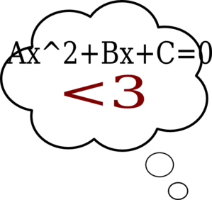 Thought Bubble Quadratics Clip Art