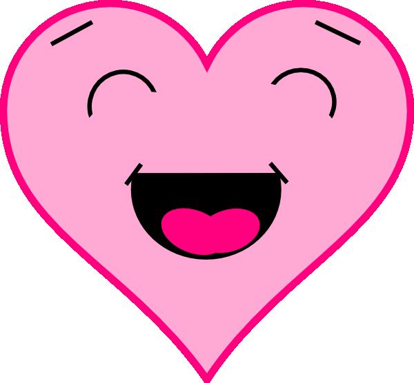 Tickled Pink Hi on Smiling Lips Clip Art