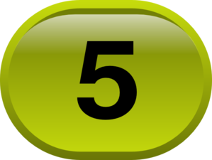 Button For Numbers 5 Clip Art