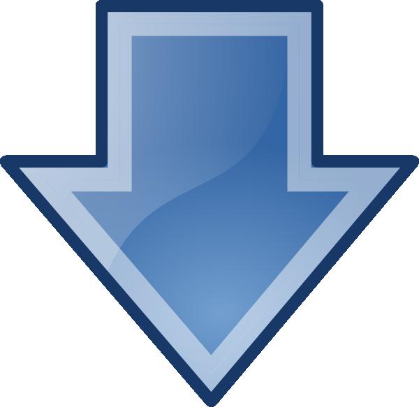 Little-blue-down-arrow Clip Art at Clker.com - vector clip art online ...