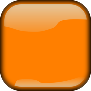 Dark Orange Locked Square Button Clip Art