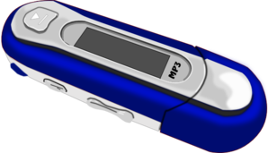 A Blue Old Style Mp3 Player Clip Art