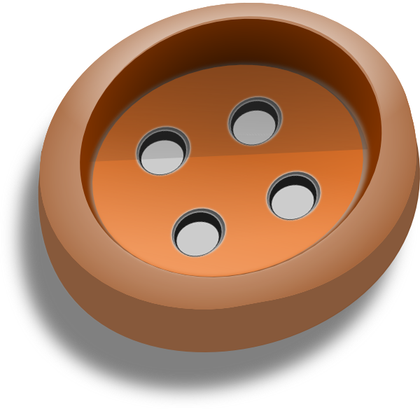 Brown Button Clip Art at Clker.com - vector clip art ...