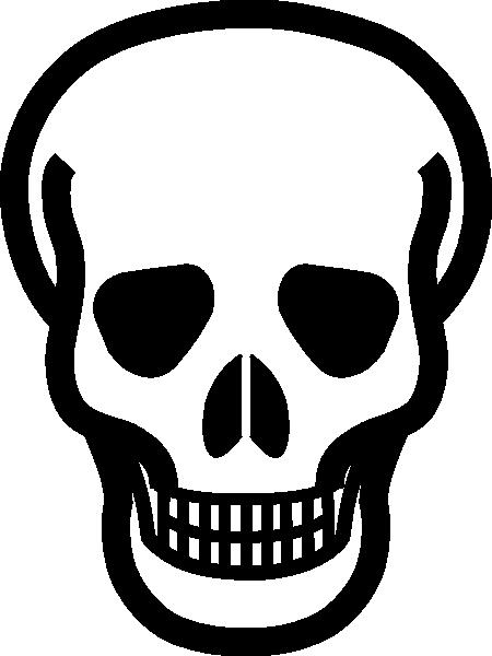 Totetude Skull Outline Clip Art at Clker.com - vector clip ...