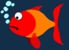 Red And Orange Fish Clip Art