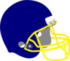 Yellow Grill Football Helmet Clip Art