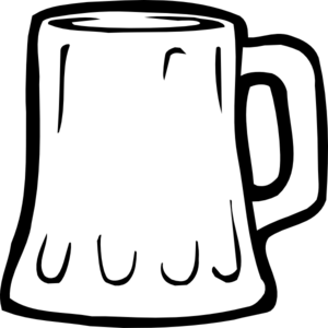 Beer Mug Black And White Clip Art