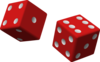2 Red Dice Clip Art