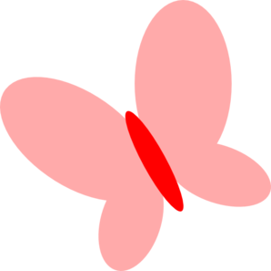 Pink Red Butterfly Clip Art