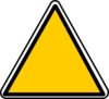 Yellow Triangle Sign Clip Art