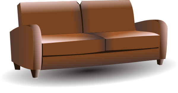 Brown couch clip art at vector clip art online royalty free public domain - Furniture image ...
