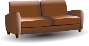 Brown Couch Clip Art