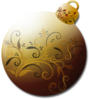 Gold Glass Ornament Clip Art