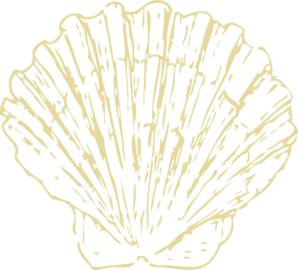 Scallop Shell Beige Clip Art