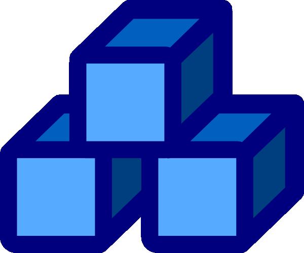 Blue Blocks Clip Art At Clker Com