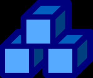 blue blocks clip art at clker com vector clip art online royalty rh clker com abc blocks clipart block clipart images
