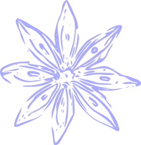 Light Purple Lily Outline Clip Art