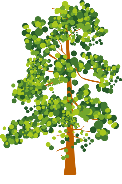Green Brown Abstract Tree Clip Art at Clker.com - vector clip art online, royalty free ...