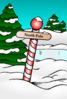 North Pole Sign Clip Art
