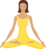 Woman In Yoga Position  Clip Art
