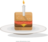 Birthday Burger Clip Art