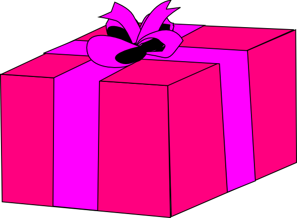 Pink gift box clip art at clker vector clip art online download this image as negle Image collections
