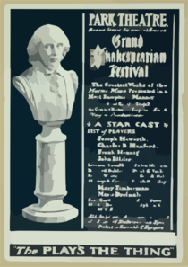 Grand Shakespearian Festival The Greatest Works Of The Master Mind Presented In A Most Sumptuous Manner : Magnificent And Realistic Stage Pictures Of The Greatest Historical Tragedies : Each Play A Production. Clip Art