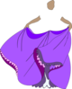 Princess Purple Dress No Face/body Clip Art