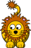 Lion Looking Left-down Clip Art