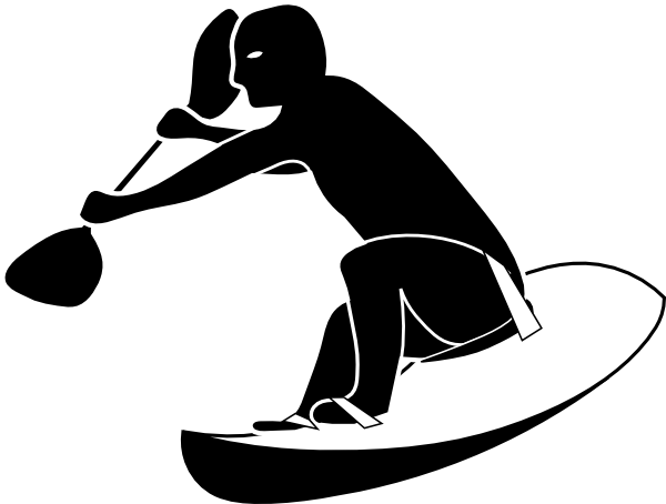 paddle surfer clip art at clker com vector clip art online rh clker com surf clipart surfer clipart black and white