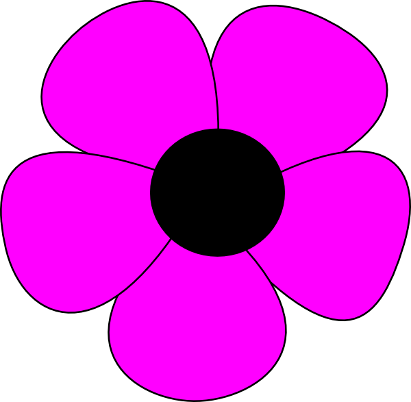 simple flower clip art at clker com vector clip art online rh clker com Simple Flower Vine Clip Art Simple Flowers Outlines Clip Art