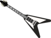 Black Flying V Guitar Clip Art