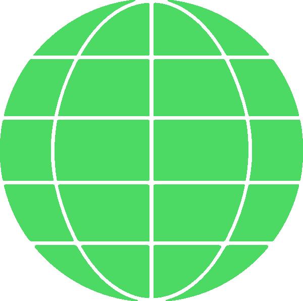 Green Globe Icon Clip Art at Clker.com - vector clip art ...
