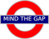 Mind The Gap Tube Sign Clip Art