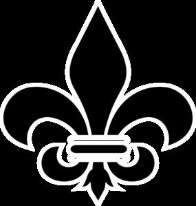black fleur de lis clip art at clker com vector clip art Fleur De Lis Outline Fleur De Lis Symbol
