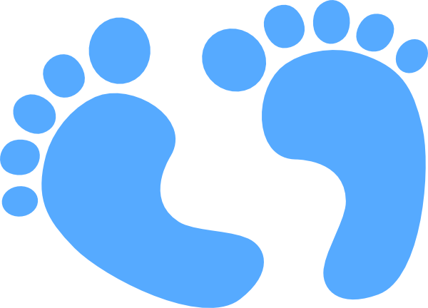 multi colored baby boy feet clipart