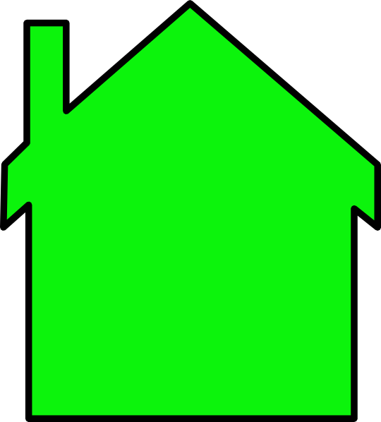 Bright Green House Bright Green House Clip Art At Vector Clip Art Online