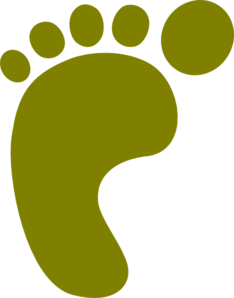 Olive Green Left Foot Clip Art