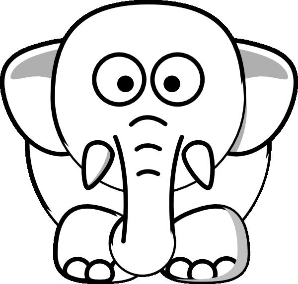 Elephant Outline Clip Art At Clker Com Vector Clip Art