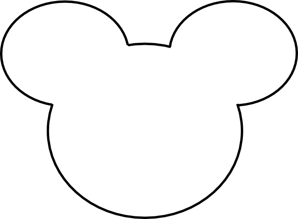 Mickey Mouse Outline Clip Art at Clker.com - vector clip art online ...