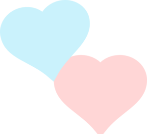 Two More Hearts Clip Art