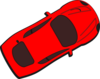 Red Car - Top View - 30 Clip Art