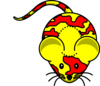 Yellow Mouse Noredears Clip Art