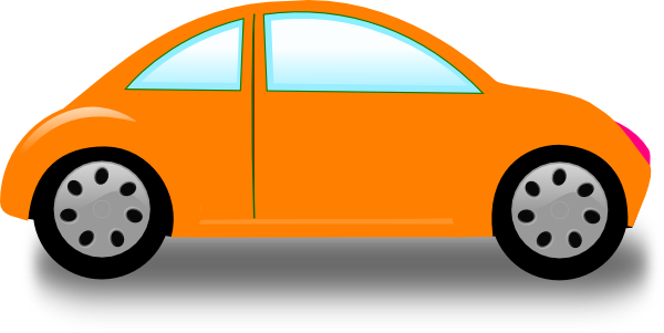 Cars Clip Art >> Orange Car Clip Art at Clker.com - vector clip art online, royalty free & public domain